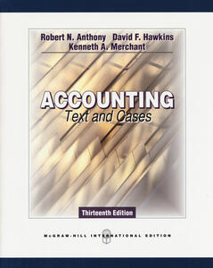 Accounting: Texts and Cases (Int'l Ed) - Robert N. Anthony,David F. Hawkins,Kenneth A. Merchant - cover