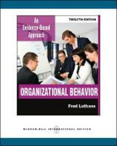 Organizational Behavior (Int'l Ed) - Fred Luthans - cover