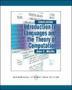 Introduction to Languages and the Theory of Computation - John C. Martin - cover