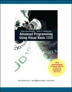 Advanced Programming Using Visual Basic 2008 - Julia Case Bradley,Anita C. Millspaugh - cover