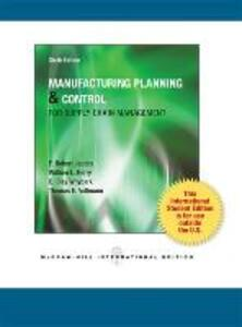 Manufacturing Planning and Control for Supply Chain Management - F. Robert Jacobs,William Lee Berry,D. Clay Whybark - cover
