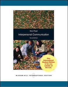Interpersonal Communication - Kory Floyd - cover