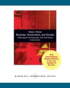 Business, Government and Society: A Managerial Perspective - John F. Steiner - cover