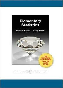 Elementary Statistics with Formula Card and Data CD (Int'l Ed) - William C. Navidi,Barry Monk - cover