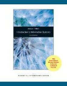 Introdiction to information systems - James A. O'Brein - copertina