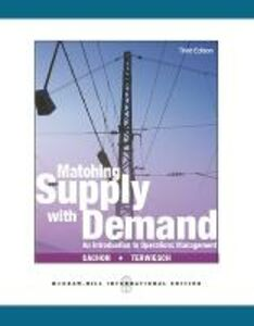 Libro Matching supply with demand: an introduction to operatiions management Cachon