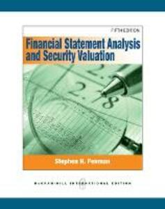 Financial statement analysis and security valuation - Stephen N. Penman - copertina