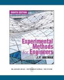Experimental methods for engineers - Jack P. Holman - copertina