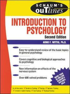 Schaum's Outline of Introduction to Psychology - Arno F. Wittig - cover