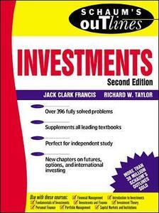 Schaum's Outline of Investments - Jack Clark Francis,Richard L. Taylor - cover