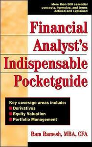Financial Analyst's Indispensible Pocket Guide - Ram Ramesh - cover