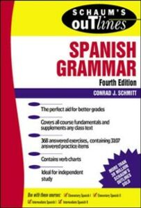 Foto Cover di Schaum's Outline of Spanish Grammar, Ebook inglese di Conrad Schmitt, edito da McGraw-Hill Education