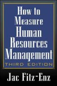 How to Measure Human Resource Management - Jac Fitz-enz - cover