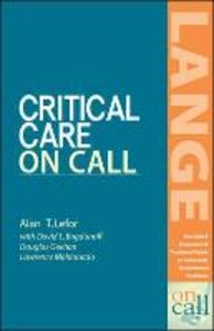 Critical Care On Call - Alan T. Lefor - cover