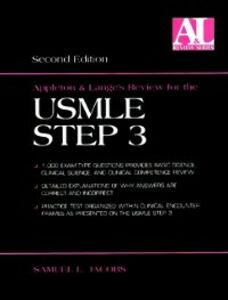 Ebook in inglese Appleton & Lange's Review for the USMLE Step 3 Jacobs, Samuel