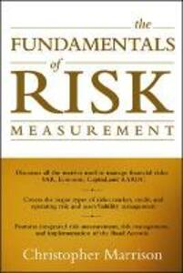 The Fundamentals of Risk Measurement - Christopher Marrison - cover