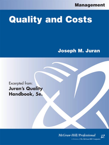 Ebook in inglese Quality and Costs Juran, Joseph M.