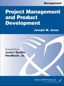 Foto Cover di Project Management and Product Development, Ebook inglese di Joseph M. Juran, edito da McGraw-Hill