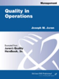Foto Cover di Quality in Operations, Ebook inglese di Joseph M. Juran, edito da McGraw-Hill