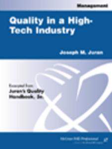 Ebook in inglese Quality in a High-Tech Industry Juran, Joseph M.