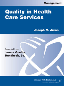 Ebook in inglese Quality in Health Care Services Juran, Joseph M.