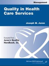 Quality in Health Care Services
