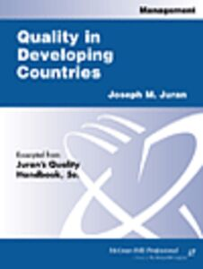 Ebook in inglese Quality in Developing Countries Juran, Joseph M.