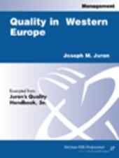 Quality in Western Europe