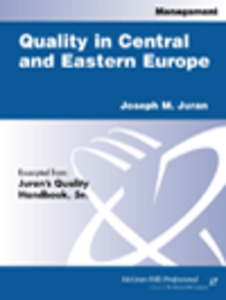 Ebook in inglese Quality in Central and Eastern Europe Juran, Joseph M.