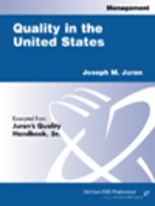 Ebook in inglese Quality in the United States Juran, Joseph M.