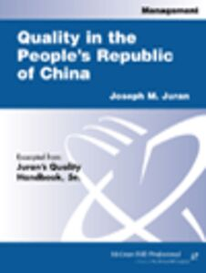Ebook in inglese Quality in the People's Republic of China Juran, Joseph M.