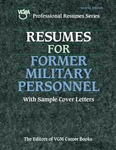 Ebook in inglese Resumes for Former Military Personnel Editors of VGM Careers Books