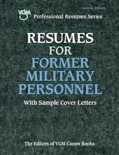 Resumes for Former Military Personnel