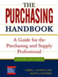 Ebook in inglese The Purchasing Handbook Cavinato, Joseph L. , Kauffman, Ralph G.