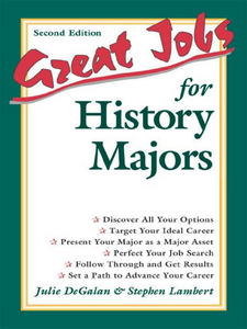 Ebook in inglese Great Jobs for History Majors DeGalan, Julie