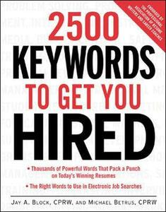 2500 Keywords to Get You Hired - Jay A. Block,Michael Betrus - cover