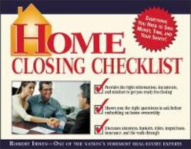 Home Closing Checklist - Robert Irwin - cover