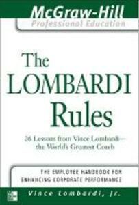 The Lombardi Rules - Vince Lombardi - cover