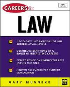 Careers in Law - Gary A. Munneke - cover