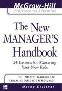 The New Manager's Handbook - Morey Stettner - cover