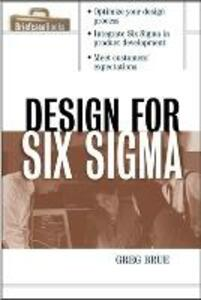 Design for Six Sigma - Greg Brue,Robert Launsby - cover