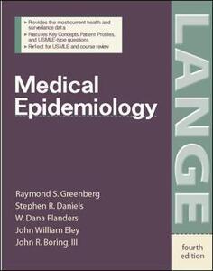 Medical Epidemiology - Raymond S. Greenberg,Stephen R. Daniels,W.d. Flanders - cover