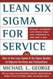 Lean Six Sigma for Service - Michael L. George - cover