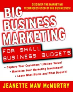 Ebook in inglese Big Business Marketing For Small Business Budgets McMurtry, Jeanette