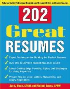 202 Great Resumes - Jay A. Block,Michael Betrus - cover