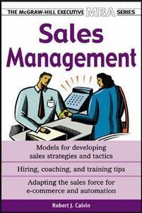 Sales Management - Robert J. Calvin - cover