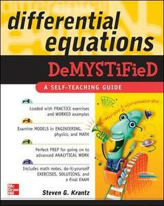 Differential Equations Demystified - S. Krantz - cover
