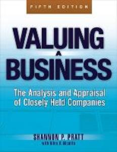 Valuing a Business - Shannon P. Pratt - cover