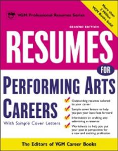 Ebook in inglese Resumes for Performing Arts Careers Books, Editors of VGM Career