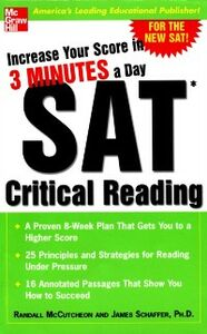 Foto Cover di Increase Your Score in 3 Minutes a Day: SAT Critical Reading, Ebook inglese di Randall McCutcheon,James Schaffer, edito da McGraw-Hill Education